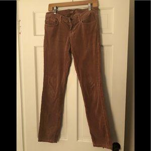 J Brand pencil leg henna corduroy jeans- 28